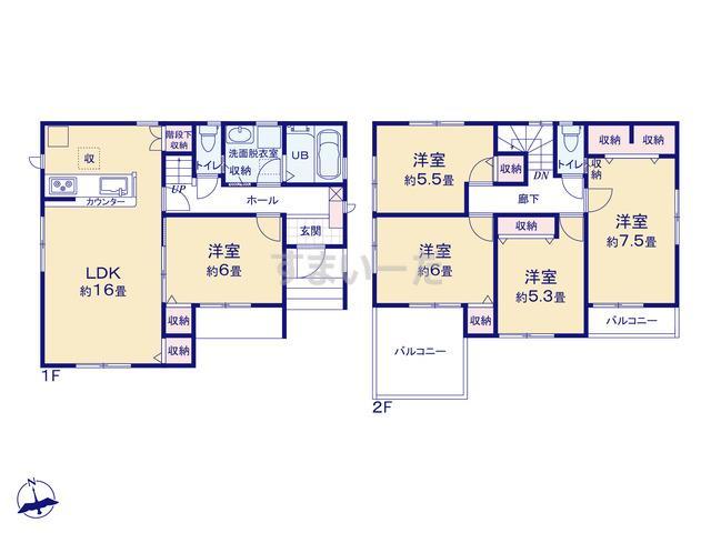 リーブルガーデン 江戸川区西小松川町の見取り図