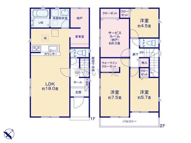 リナージュ 春日井市高森台19-2期の見取り図