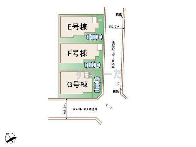 ハートフルタウン 相模原市中央区中央1丁目214番2期の見取り図