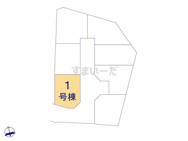 クレイドルガーデン 枚方市田口山 第2の見取り図