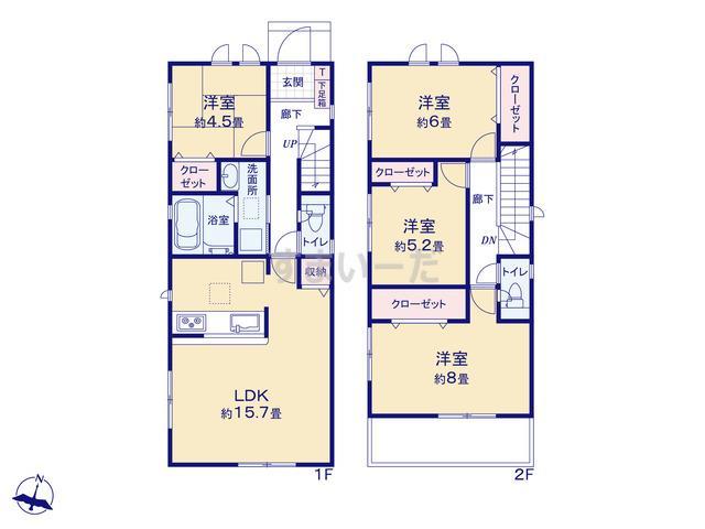 グラファーレ 神戸市小束山本町1棟の見取り図