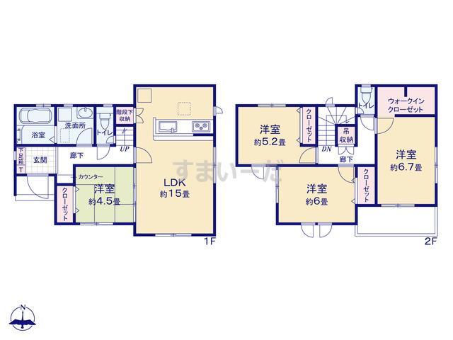 グラファーレ 大和高田市市場3期1棟の見取り図