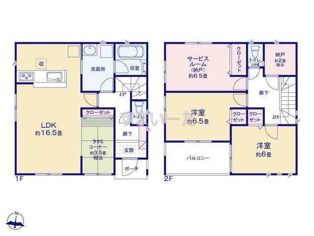 クレイドルガーデン 名古屋市南区天白町 第4の見取り図
