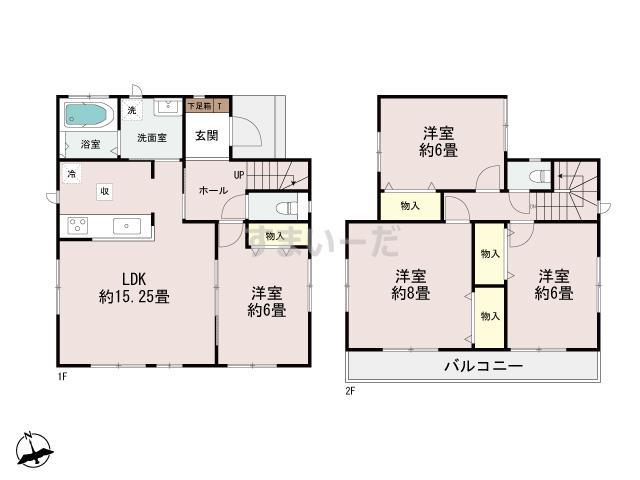 ハートフルタウン 上横田町3期の見取り図