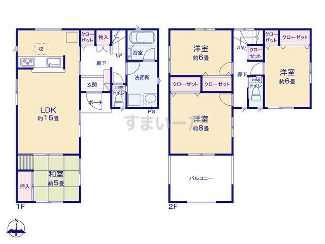 クレイドルガーデン 加古川市東神吉町西井ノ口 第4-II期の見取り図