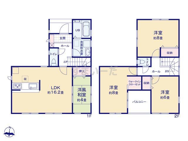 リーブルガーデン 長田区五位ノ池町の見取り図