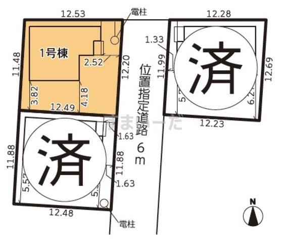 グラファーレ 浜松市葵東3棟の見取り図