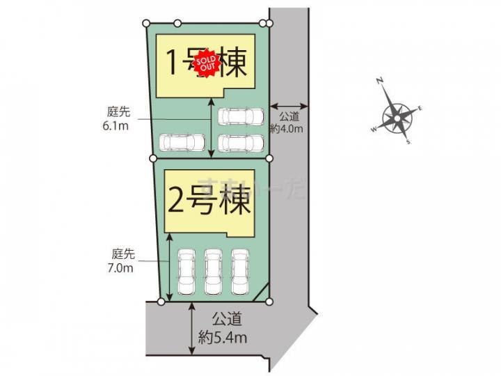 ブルーミングガーデン 福島市八木田中島2棟-長期優良住宅-の見取り図