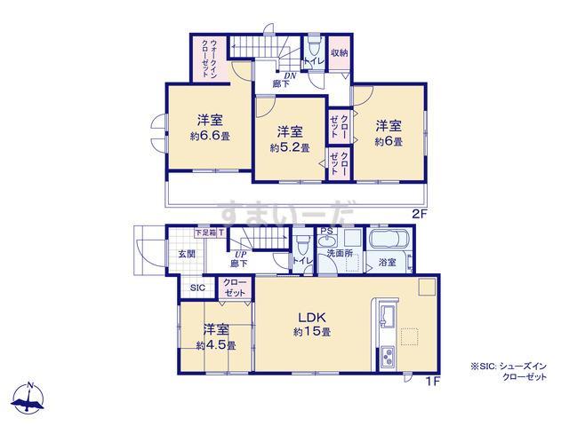 グラファーレ 宝塚市中山桜台2棟の見取り図