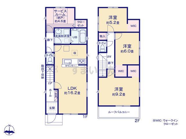 リナージュ 春日井市下条町19-1期の見取り図