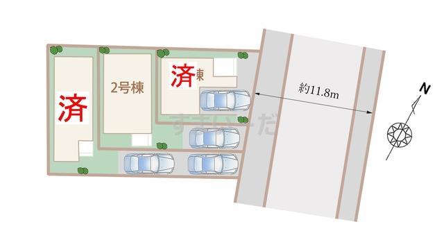 ハートフルタウン 神戸東灘深江北町の見取り図