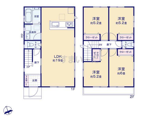 グラファーレ 岡山市福成2棟の見取り図
