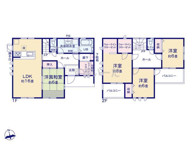 リーブルガーデン 高崎飯塚町第9の見取り図