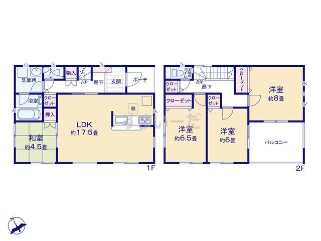 クレイドルガーデン 加古川市尾上町池田 第12-II期の見取り図
