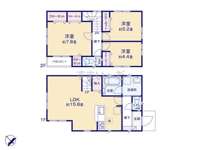 クレイドルガーデン 横浜市旭区川井宿町 第6の見取り図