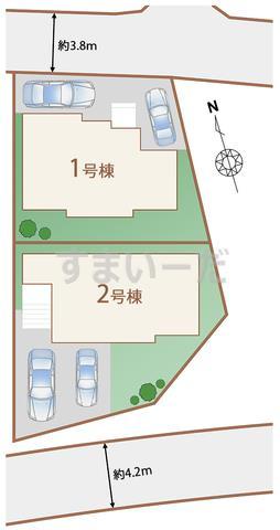 ハートフルタウン 読谷村儀間の見取り図