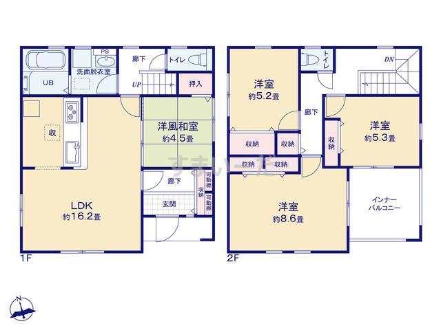 リーブルガーデン 宇都宮上横田町第4の見取り図