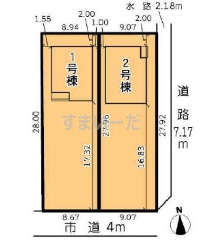 グラファーレ 浜松市小沢渡町2期2棟の見取り図