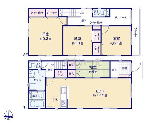 クレイドルガーデン 浜松市中区南浅田 第3の見取り図