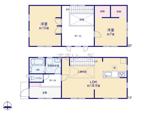 リーブルガーデン 青葉愛子東3丁目1期の見取り図