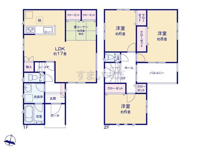 クレイドルガーデン 和歌山市宇須 第1の見取り図