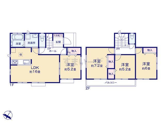 ハートフルタウン 富士松岡2期の見取り図