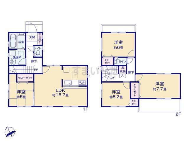 グラファーレ 福岡市箱崎2棟の見取り図