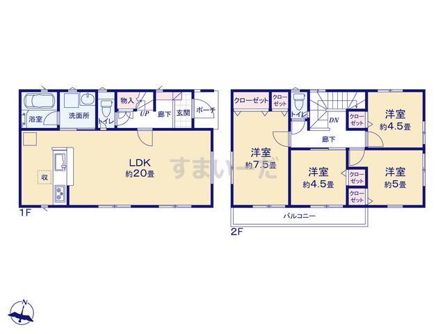 クレイドルガーデン 横浜市戸塚区矢部町 第3の見取り図