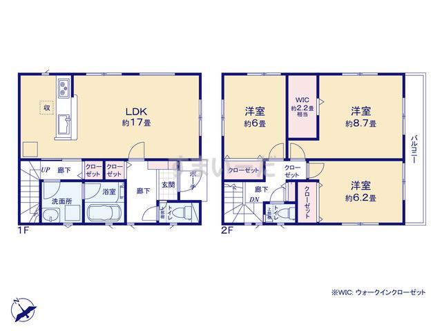クレイドルガーデン 名古屋市緑区大高町 第7の見取り図