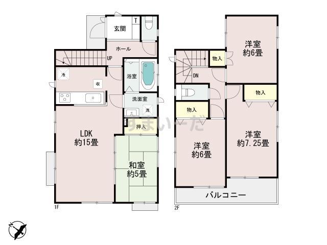 ハートフルタウン(神戸) 明石松が丘Ⅷの見取り図