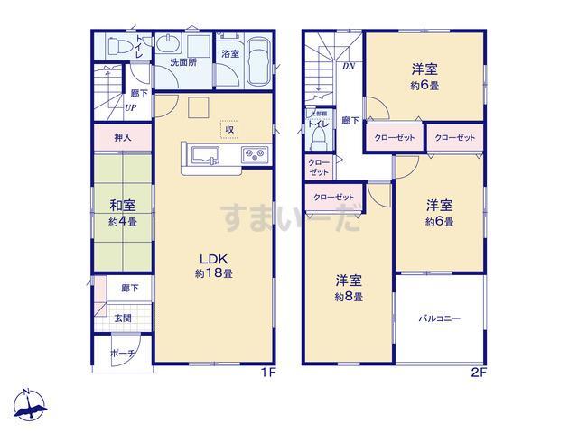 クレイドルガーデン 浜松市中区中沢町 第1の見取り図