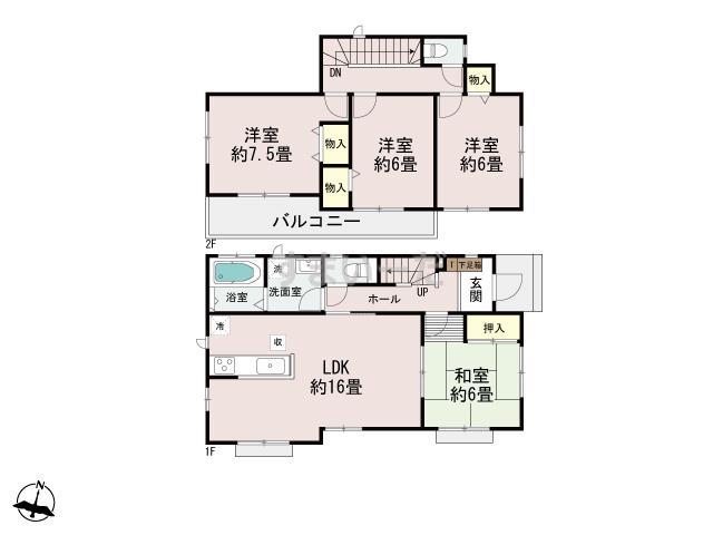 ハートフルタウン 神戸西桜が丘の見取り図