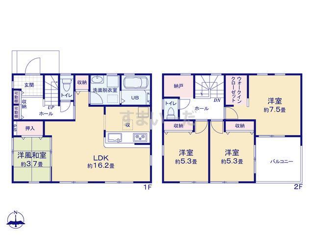 リーブルガーデン 旭区川島町の見取り図