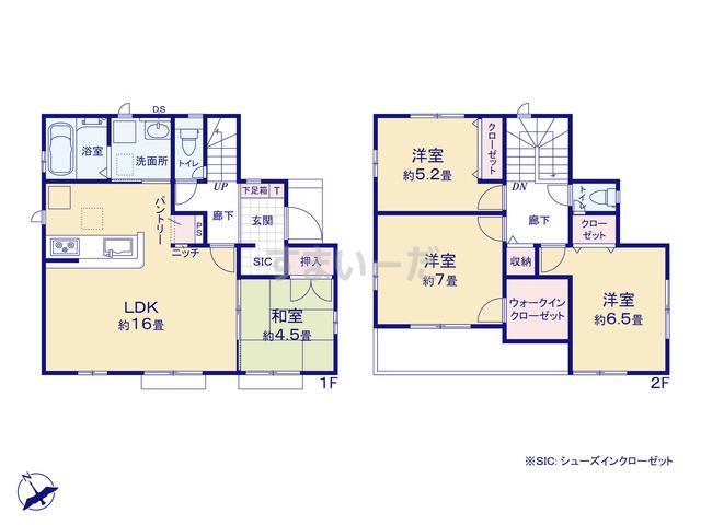 グラファーレ 千葉市桜木4期1棟の見取り図