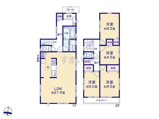 リーブルガーデン 小金井市東町1丁目の見取り図