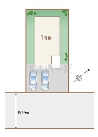 ハートフルタウン 仙台中山7期の見取り図