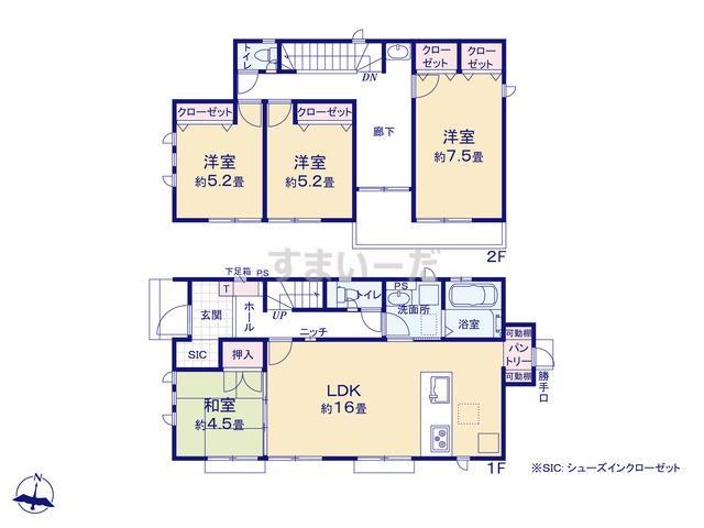 グラファーレ 入間市野田7期3棟の見取り図