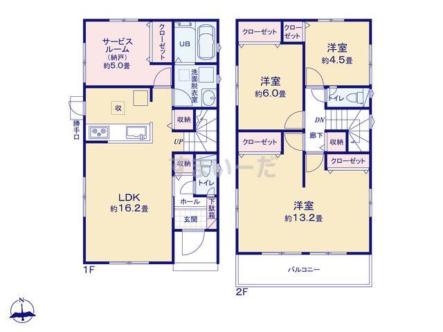 リナージュ 浜松市南区小沢渡町19-2期の見取り図