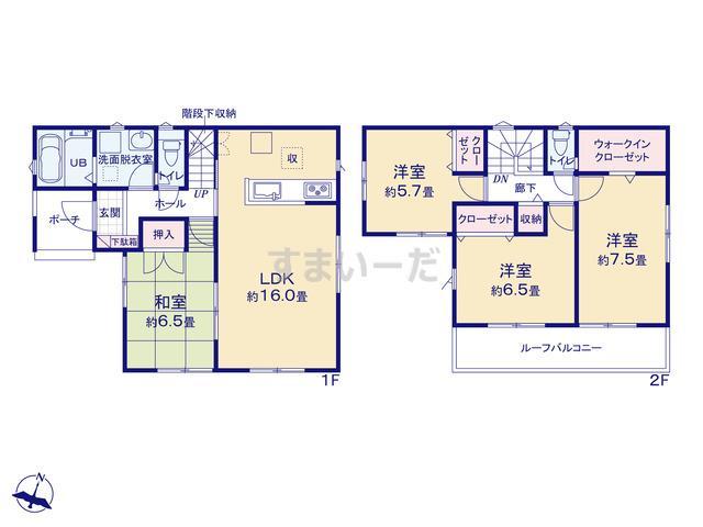 リナージュ 袋井市高尾19-1期の見取り図