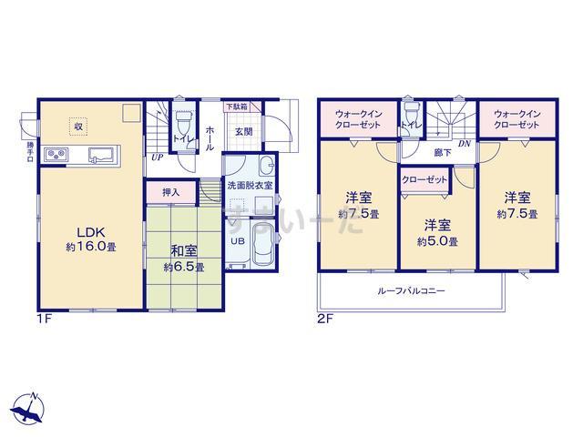 リナージュ 掛川市家代19-1期の見取り図