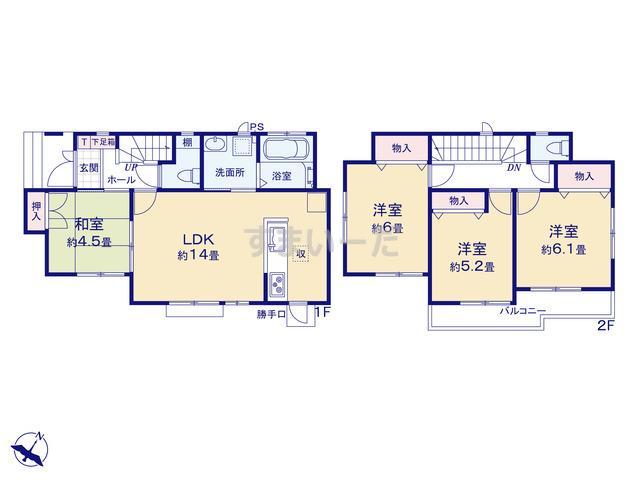 ハートフルタウン 江戸川区南小岩3丁目の見取り図
