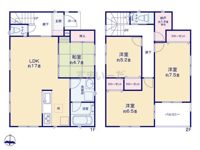 クレイドルガーデン 神戸市須磨区東白川台 第1の見取り図