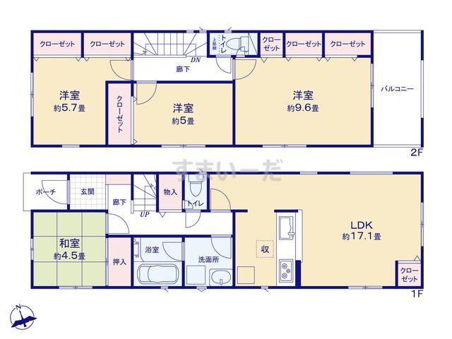 クレイドルガーデン 北九州市門司区東本町 第1の見取り図
