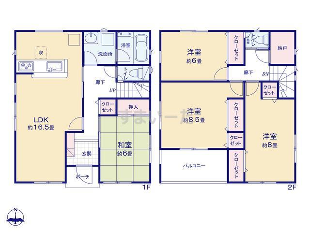 クレイドルガーデン 熊本市中央区八王寺町 第1の見取り図