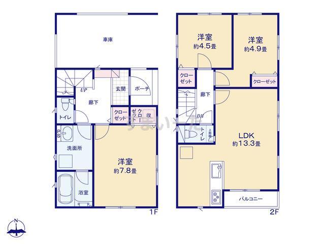 クレイドルガーデン 江戸川区中央  第7の見取り図