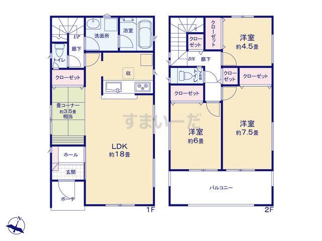 クレイドルガーデン 名古屋市緑区高根山 第1の見取り図