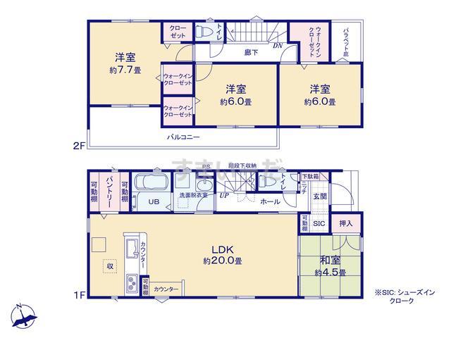 リナージュ 加須市久下20-1期の見取り図