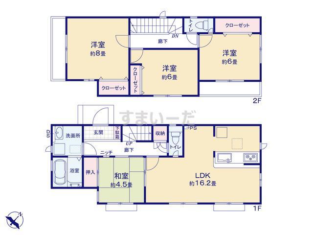 グラファーレ 川崎市南生田4期2棟の見取り図