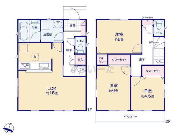 クレイドルガーデン 横浜市緑区三保町 第16の見取り図