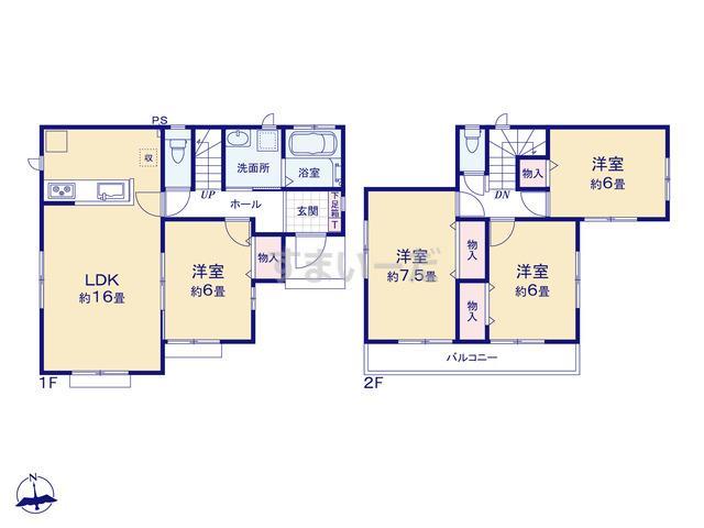 ハートフルタウン 清原台4期の見取り図